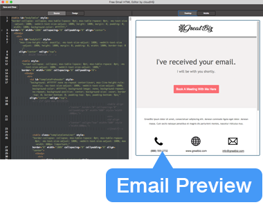Email Preview - Both Mobile and Desktop